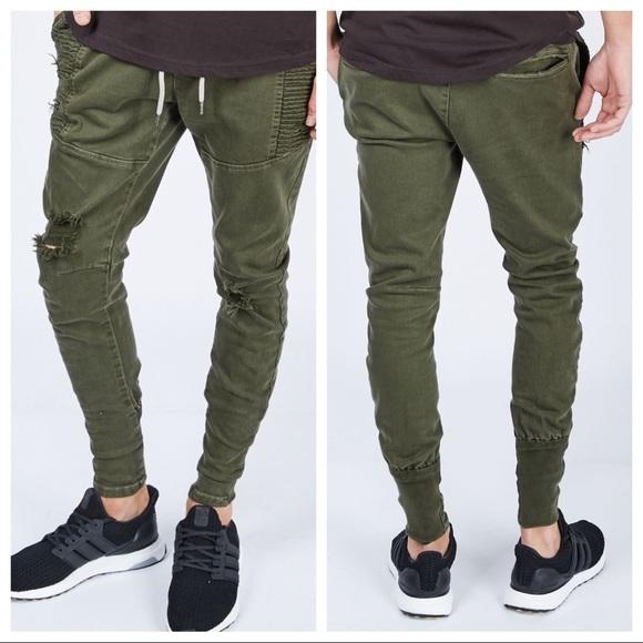 8de4aa26e53e26 NWT Dricoper Denim Moto Joggers Designer Jeans